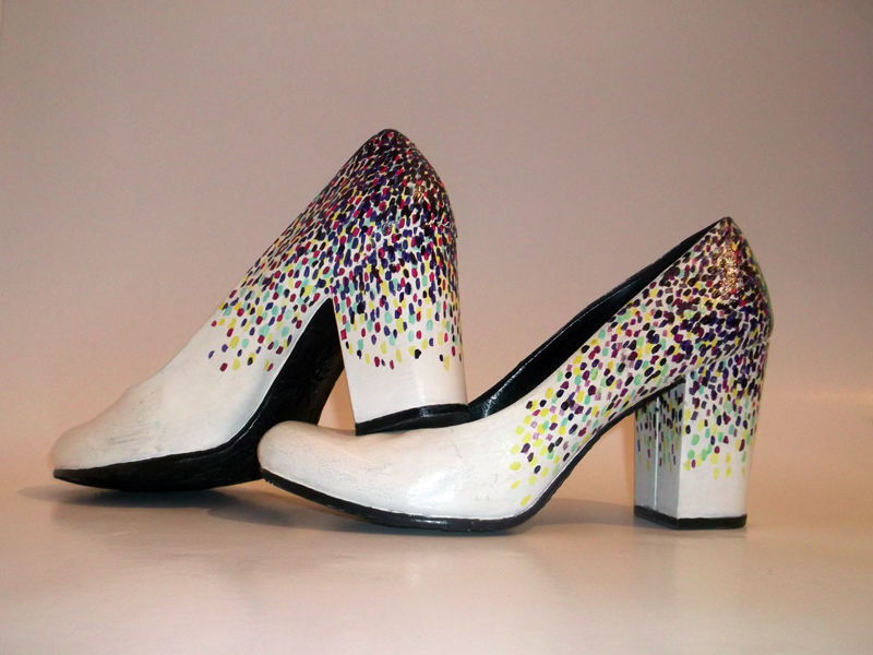 Custom made - Hand painted Wedding Shoes