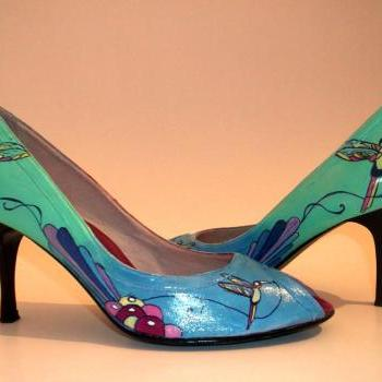 "Custom made - Hand painted Shoes ""Summer"""